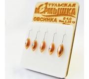 Набор Тульских мормышек Овсинка никель (5 шт)