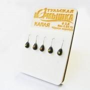 Набор Тульских мормышек Капля чёрное серебро (5 шт)