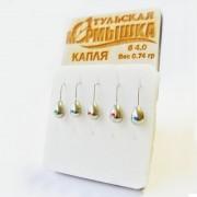 Набор Тульских мормышек Капля никель (5 шт)