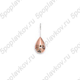 Мормышка паяная капля малая Пирс, серебро