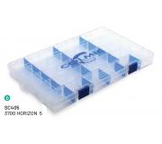 Коробка пластиковая Colmic 3700 Horizon-5 (H. 3,5cm)