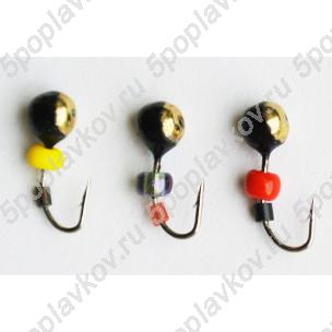 Набор вольфрамовых мормышек Владимирские мормышки Дробинка (2,5 мм)