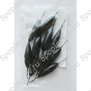Груз спортивный быстросъемный Пирс (веретено, черный), 2,5г