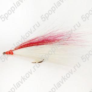 Искусственная приманка муха-стример ST-08 белый+красный