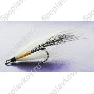 Искусственная приманка муха-стример ST-07 белый+черный