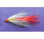Искусственная приманка муха-стример ST-08 бело-красная
