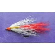 Искусственная приманка муха-стример ST-08 бело-красная, золотое тело