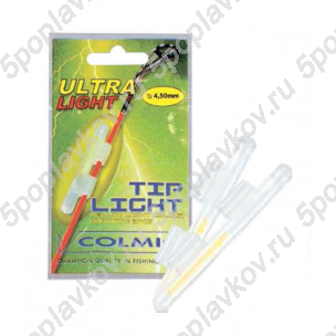Светлячок с держателем на хлыст Colmic Tip Light Yellow