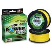 Шнур плетёный Power Pro Hi-Vis Yellow жёлтый (275 м)