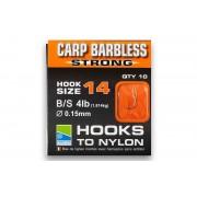Поводки Preston Carp Barbless Strong Hooks To Nylon