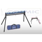 Подставка-гребенка Colmic Easy для 12 удилищ c телескопическими ногами