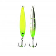 Блесна зимняя светонакопитель Rapala SM-Pirken Glow CGG (никель/желто-зеленый)