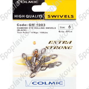 Вертлюги Colmic Dimond Eye Rolling Swivels