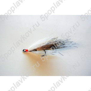 Искусственная приманка муха-стример ST-07 белый+бежевый