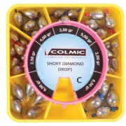 Набор грузил-оливок Colmic Short Diamond