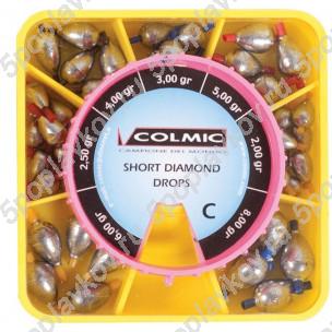 Набор грузил-оливок Colmic Short Diamond