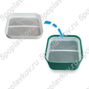 Сито для контейнеров (1,2L или 1,8L) Stonfo для пробивки мелкого мотыля 15х15см