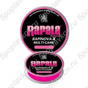 Шнур плетёный Rapala Rapinova-X Multi Game Розовый (100 м)